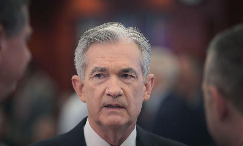 "FED vadovas Jerome'as Powellas.  Scott Olson (AFP / ""Scanpix"") nuotr."