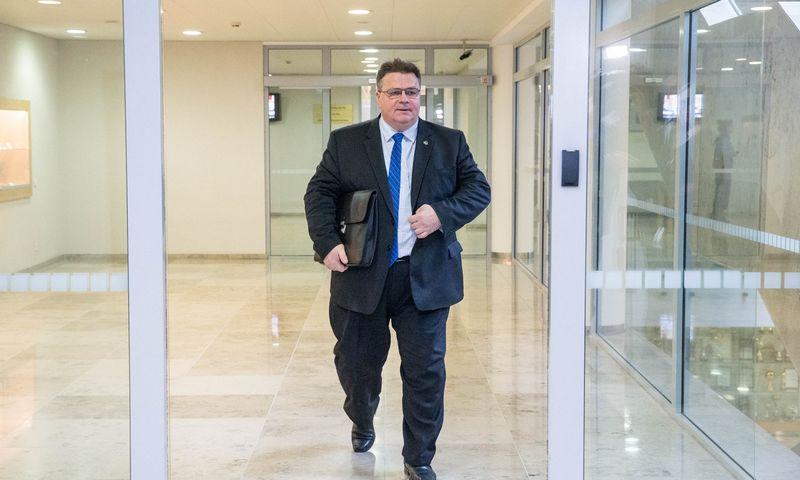 Užsienio reikalų ministras Linas Linkevičius. Juditos Grigelytės (VŽ) nuotr.