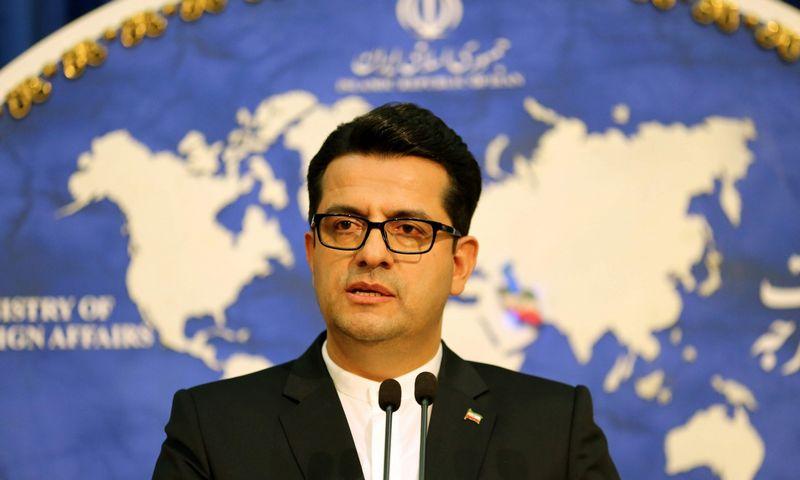 Abbas Mousavi, Irano užsienio reikalų ministerijos atstovas spaudai. Atta Kenare (AFP) nuotr.