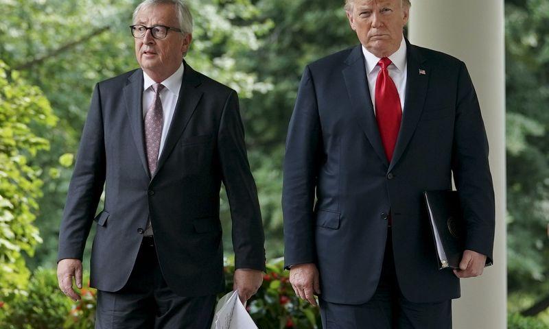 """ES gali būti kitas Donaldo Trumpo, JAV prezidento, prekybos karo taikinys. Pablo Martinezo Monsivaiso (""""AP"""" / """"Scanpix"""") nuotr."""