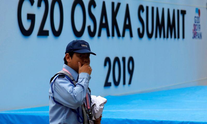 """G20 lyderiai renkasi Japonijoje. Issei Kato (""""Reuters"""" / """"Scanpix"""") nuotr."""