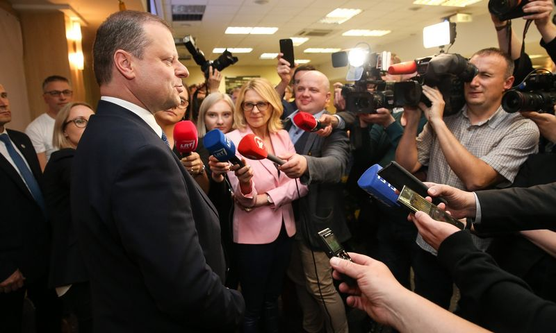 Premjeras Saulius Skvernelis dar neatsako, ar jis formuos Vyriausybę po naujojo prezidento inauguracijos. Vladimiro Ivanovo (VŽ) nuotr.