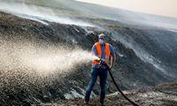 Šilutės rajone dega 12 hektarų durpyno: gesinti padeda latviai