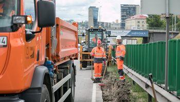 Vilniuje tęsiama Geležinio Vilko gatvės rekonstrukcija