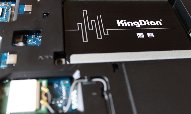 "SSD diskas keistu pavadinimu ""KingDian"" pribloškė greičiu. Liutauro Leščinsko nuotr."