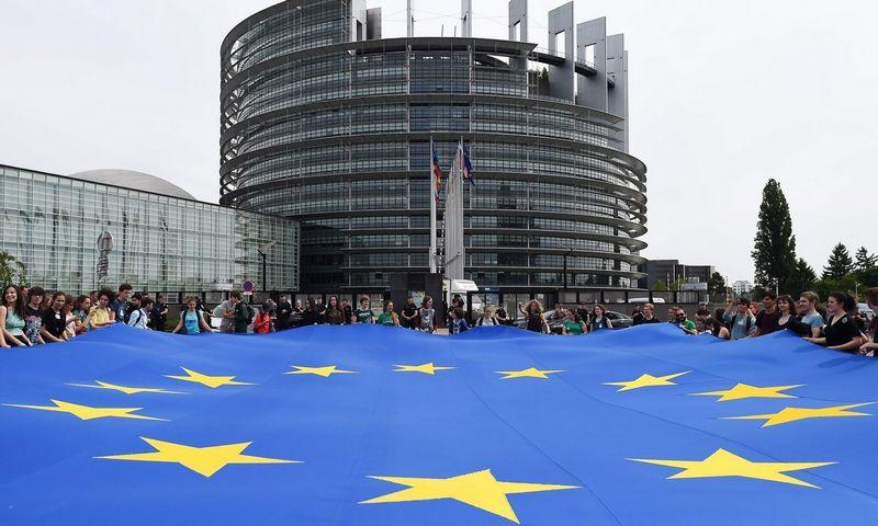 Gegužės pabaigoje išrinktas Europos Parlamentas rinksis į savo pirmąją sesiją Strasbūre. Frederick Florin (AFP/Scanpix) nuotr.