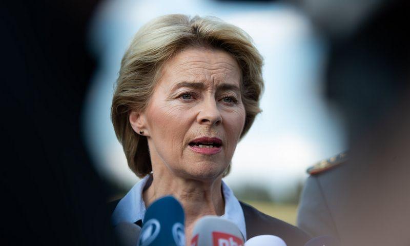 "Vokietijos gynybos ministrė Ursula von der Leyen. (DPA / ""Scanpix"") nuotr."