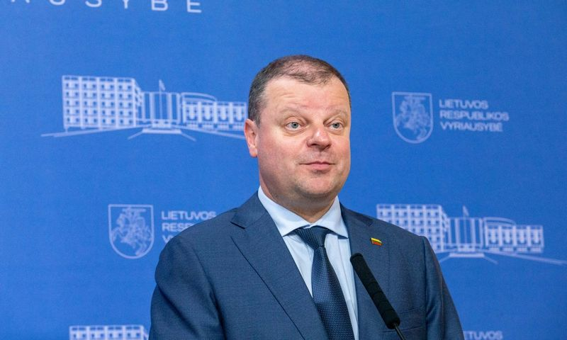 Saulius Skvernelis, Lietuvos ministras pirmininkas Vyriausybėje. Juditos Grigelytės (VŽ) nuotr.