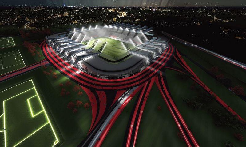 """AB """"Axis Industries"""" įmonių konsorciumo pasiūlytas projektas. Bendrovės vizualizacija."""