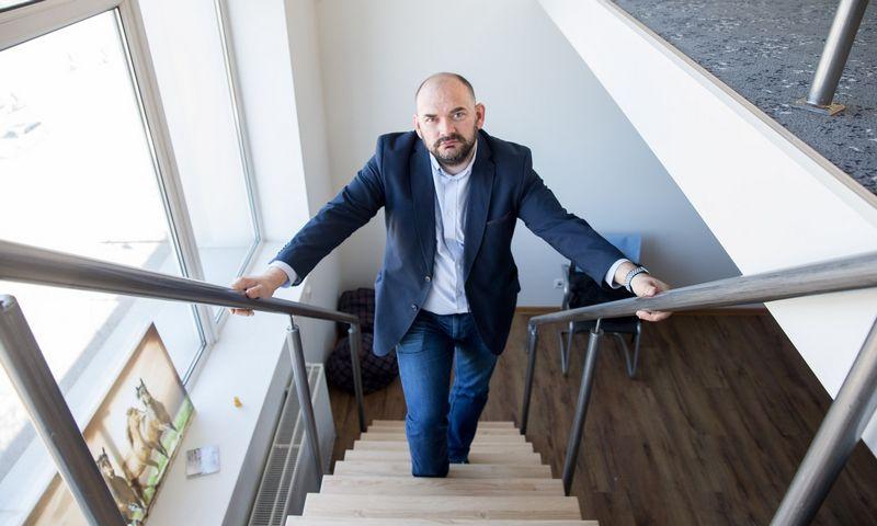"""M. Pareščius, """"Business Hive Vilniaus"""" savininkas, sako parduodantis patalpas su nuomininkais arba be jų. Juditos Grigelytės (VŽ) nuotr."""