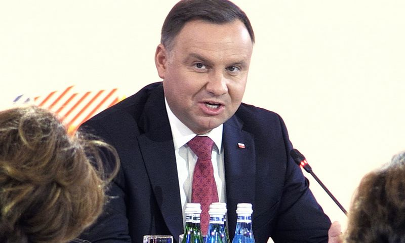 "Lenkijos prezidentas Andrzejus Duda. Jaap Arriens ""NurPhoto""/""Scanpix"" nuotr. ""Reuters""/""Scanix"" nuotr."
