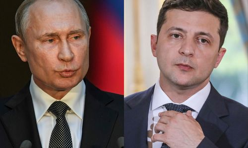 V. Zelenskis ir V. Putinas kalbėjosi telefonu