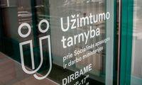 Registruotas nedarbas šalyje –8%