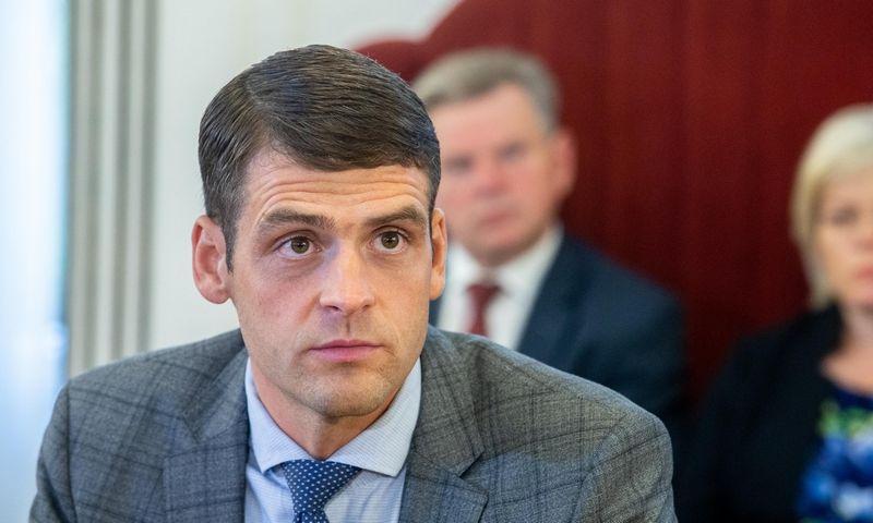 """Partijos """"Tvarka ir teisingumas"""" pirmininkas Remigijus Žemaitaitis. Juditos Grigelytės (VŽ) nuotr."""