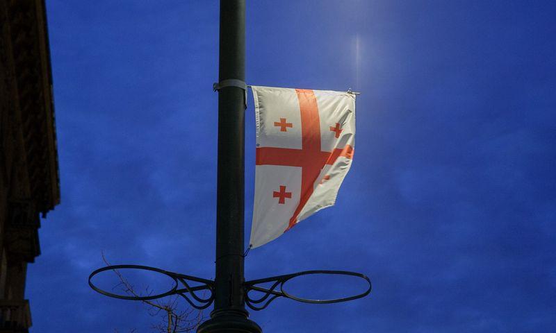 Gruzijos vėliava. Vladimiro Ivanovo (VŽ) nuotr.