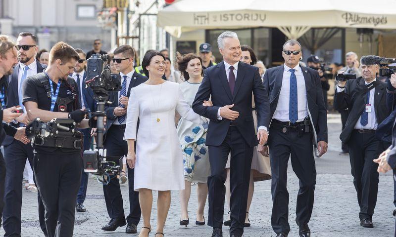 """Prezidentas Gitanas Nausėda ir Diana Nausėdienė. """"15min"""" nuotr."""
