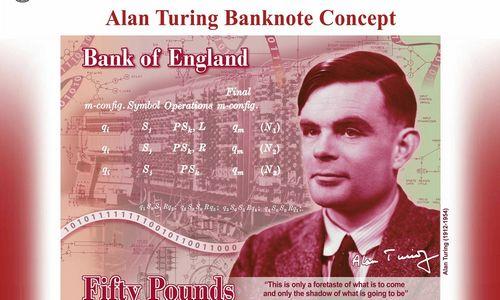 """Ant naujo 50 svarų banknoto – žmogus, iššifravęs """"Enigmos"""" kodus"""