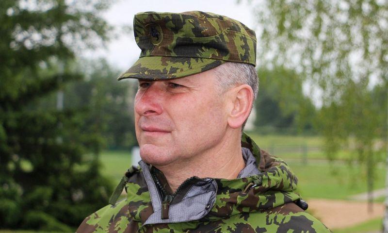 Kariuomenės Sausumos pajėgų vadas generolas majoras Valdemaras Rupšys. Sauliaus Jakučionio (15min.lt/Scanpix) nuotr.