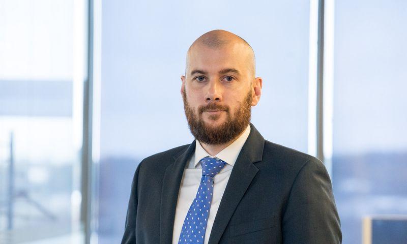 """Mantvidas Žėkas, FMĮ """"Orion Securities"""" Kapitalo rinkų skyriaus vadovas. Juditos Grigelytės (VŽ) nuotr."""