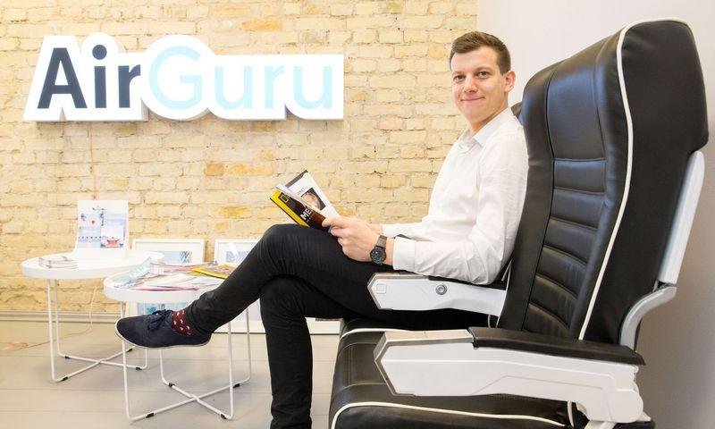 """Justinas Albertynas, kelionių agentūros """"AirGuru""""  verslo plėtros vadovas. Juditos Grigelytės (VŽ) nuotr."""