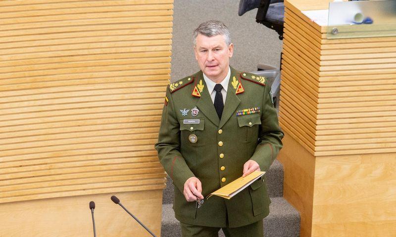 Valdemaras Rupšys nuo liepos 24 d. taps Lietuvos kariuomenės vadu. Juditos Grigelytės (VŽ) nuotr.