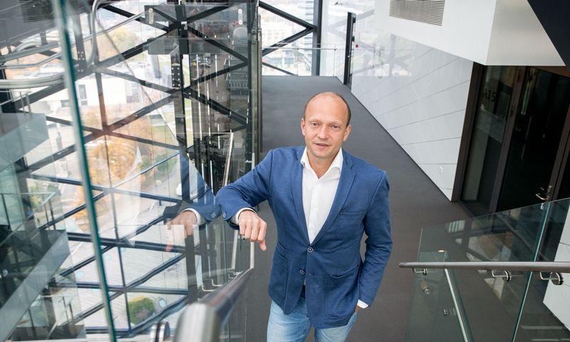 """Nerijus Mačiulis, """"Swedbank"""" vyriausiasis ekonomistas. Juditos Grigelytės (VŽ) nuotr."""