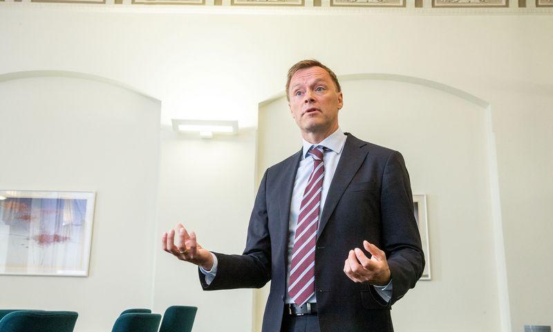Henrikas Braconieras, Švedijos finansų priežiūros tarnybos (Finansinspektionen) vyriausiasis ekonomistas. Juditos Grigelytės (VŽ) nuotr.