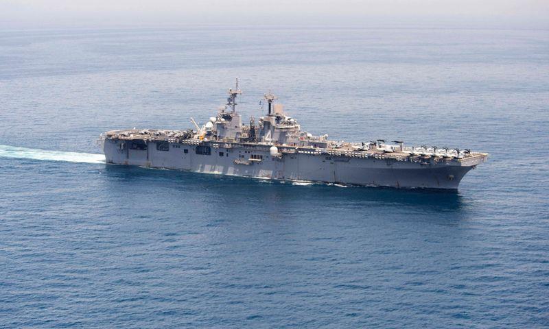 """JAV karinis laivas """"USS Boxer"""". AFP / """"Scanpix"""" nuotr."""