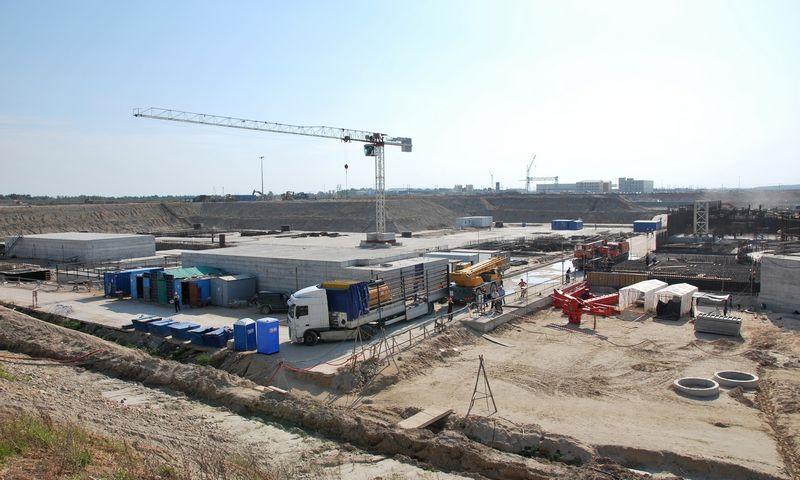 Taip prieš 7 metus atrodė Rusijoje, Kaliningrado srityje statomos atominės elektrinės statybų aikštelė.  Ryto Staselio (VŽ) nuotr.