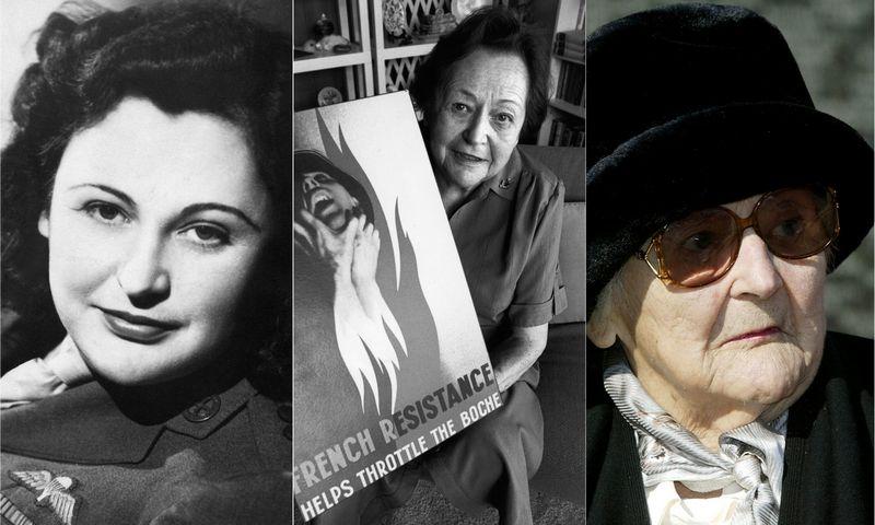 """Nancy Wake (1912–2011) buvo viena geriausiai dirbančių SOE agenčių visoje Prancūzijoje. """"Scanpix""""/VŽ montažas."""