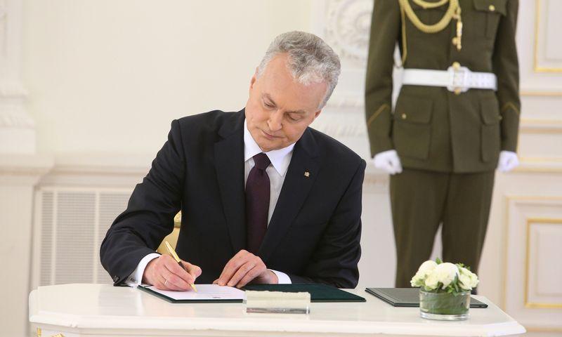 Prezidentas Gitanas Nausėda pasirašė pirmąjį veto. Vladimiro Ivanovo (VŽ) nuotr.