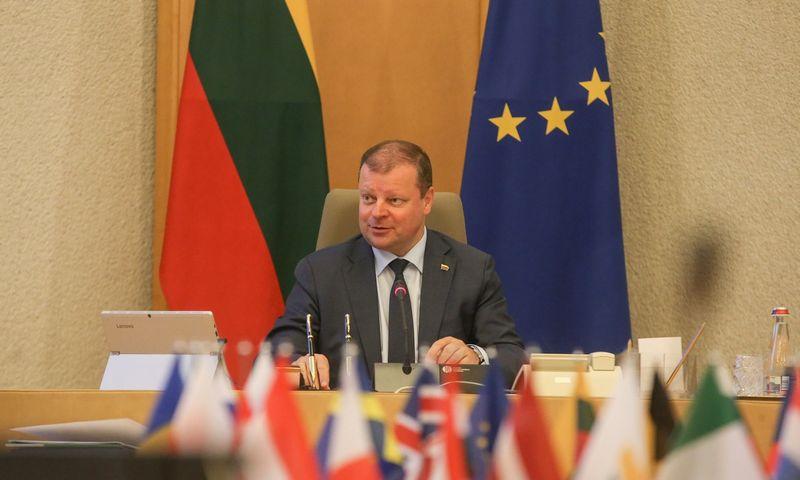 Sauliaus Skvernelio vadovaujama Vyriausybė aptarė, kaip sekasi vykdyti valstybės valdomų įmonių pertvarką. Vladimiro Ivanovo (VŽ) nuotr.