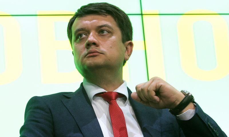 "D. Razumkovas, partijos ""Tautos tarnas"" pirmininkas. Annos Marchenko (TASS / ""Scanpix"") nuotr."