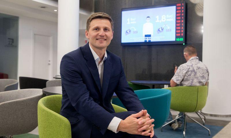 Vaidas Žagūnis, SEB banko valdybos narys ir Mažmeninės bankininkystės tarnybos direktorius. Juditos Grigelytės (VŽ) nuotr.