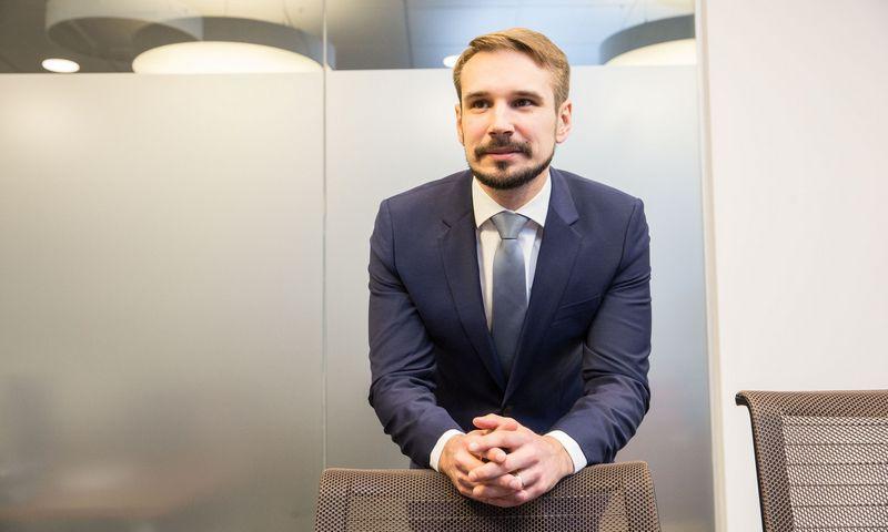 """Vaidotas Rūkas, """"INVL Asset Management"""" investicijų valdymo padalinio vadovas. Juditos Grigelytės (VŽ) nuotr."""