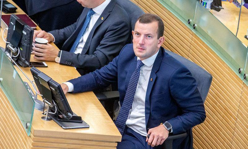 Ekonomikos ir inovacijų ministras Virginijus Sinkevičius. Juditos Grigelytės (VŽ) nuotr.