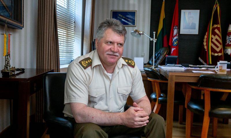 Generolas leitenantas Jonas Vytautas Žukas, kadenciją baigęs Lietuvos kariuomenės vadas. Juditos Grigelytės (VŽ) nuotr.
