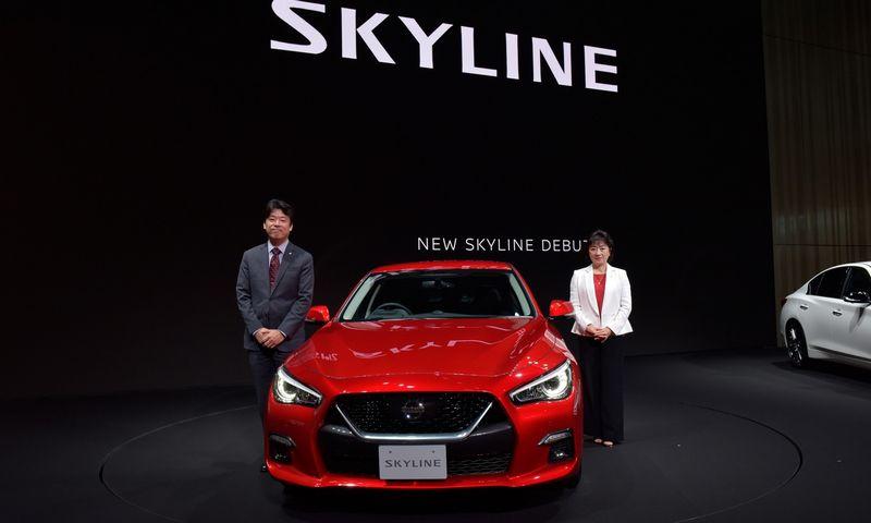 """Kitais metais pasirodysiantis naujasis """"Nissan Skyline"""" atskleidžia kai kurias savavaldžių automobilių dizaino tendencijas. Gamintojo nuotr."""