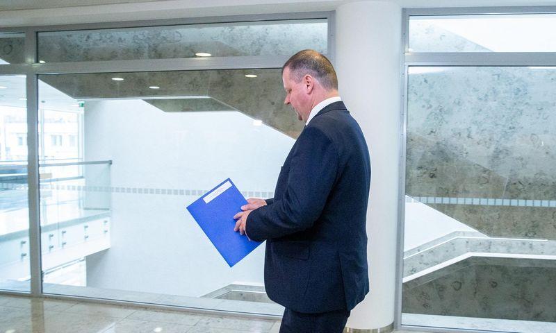 """Premjeras Saulius Skvernelis: """"Vyriausybė laikosi pozicijos, kad galutiniai teismo sprendimai turi būti vykdomi.""""  Juditos Grigelytės (VŽ) nuotr."""