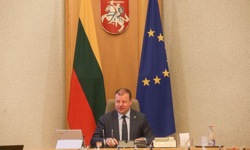 Premjeras Saulius Skvernelis paragino Vyriausybės narius nepamiršti įgyvendinti programą. Vladimiro Ivanovo (VŽ) nuotr.