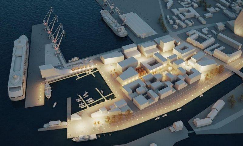 """Buvusios """"Laivitės"""" gamyklos teritorijos plėtros vizualizacija. """"Litectus"""" nuotr."""