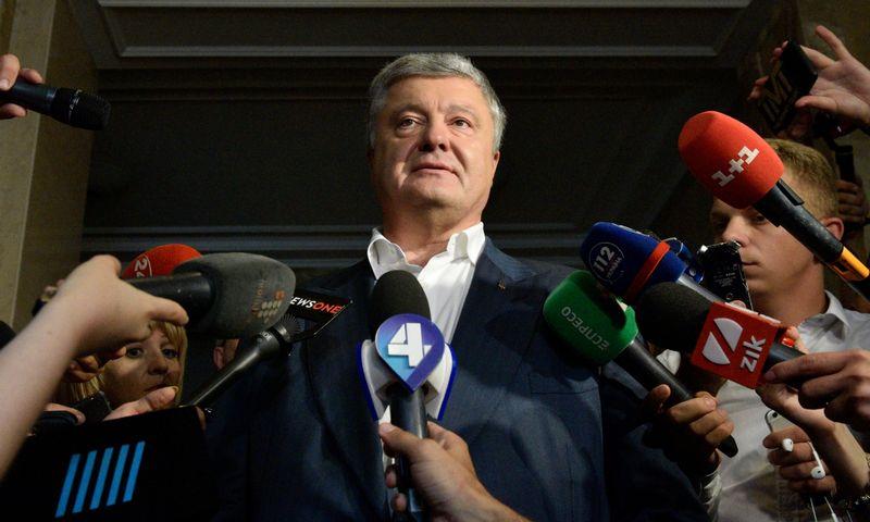 "Buvęs Ukrainos prezidentas P. Porošenka.  ""Stringer"" / ""Sputnik"" / ""Scanpix"" nuotr."