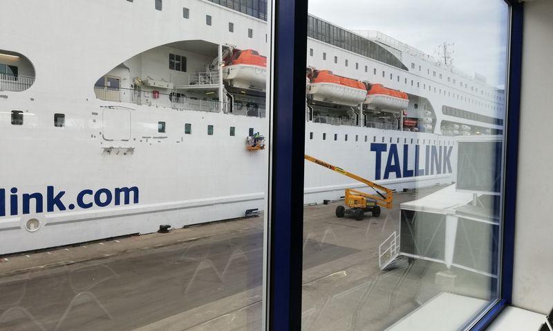 """""""Tallink Grupp"""" keltas. Pauliaus Čiulados (VŽ) nuotr."""