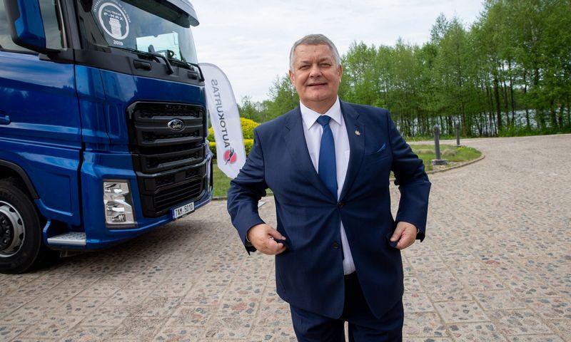 """Romas Austinskas, UAB """"Autopaslauga"""" vadovas ir """"Linavos"""" prezidentas. Juditos Grigelytės (VŽ) nuotr."""