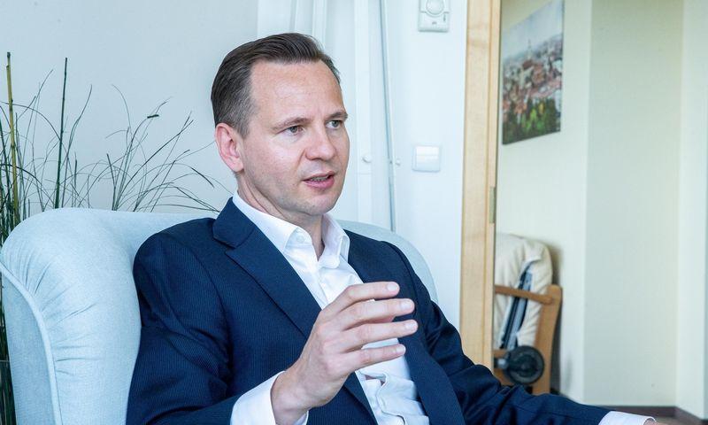 """Stigas Roaras Myrsethas, investicijų valdymo įmonės """"Dovre Forvaltning"""" vadovas. Juditos Grigelytės (VŽ) nuotr."""