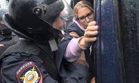 Rusijoje sulaikyta opozicijos lyderė Lyubovė Sobol ir kiti asmenys