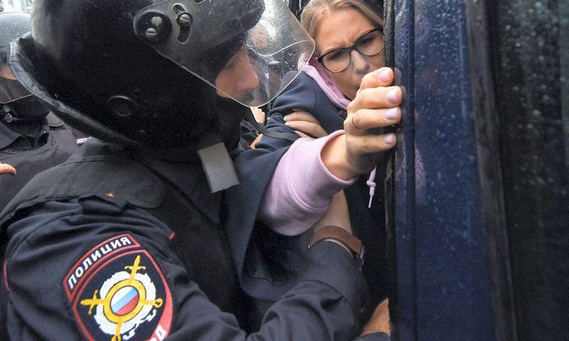 "Lyubovė Sobol. Vasily Maximov (AFP/""Scanpix""/""Reuters"") nuotr."