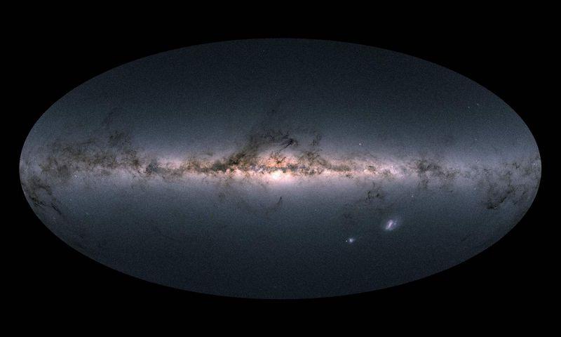 """Paukščių Tako galaktika, teigia, mokslininkai, – ne plokščia. AFP / """"Scanpix"""" nuotr."""