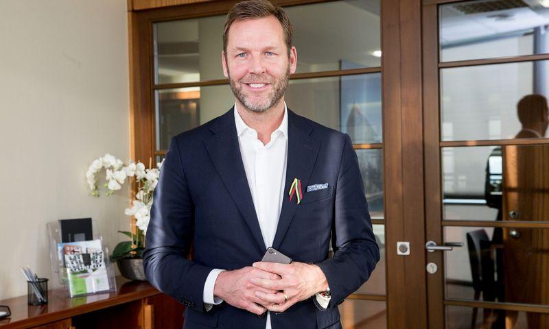 """Johanas Dennelindas, """"Telia Company"""" prezidentas ir generalinis direktorius (CEO). Juditos Grigelytės (VŽ) nuotr."""