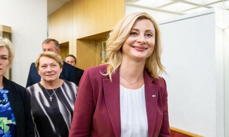 Ritos Tamašunienės kandidatūrą Lenkų rinkimų akcija siūlo į vidaus reikalų ministrus. Juditos Grigelytės (VŽ) nuotr.